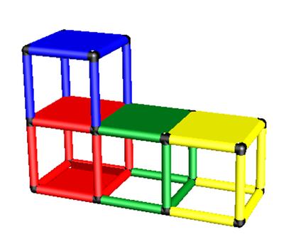 """Дополнительный набор для """"Базовой 165x45x45"""" подводной скамейки"""